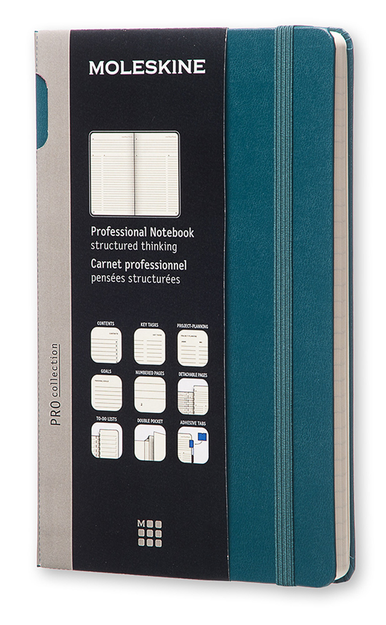 Professional Large Tide Green Hard Cover Notebook