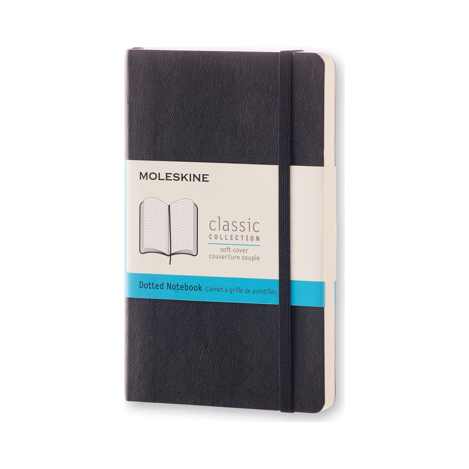 Classic Black Pocket Dotted Soft Notebook