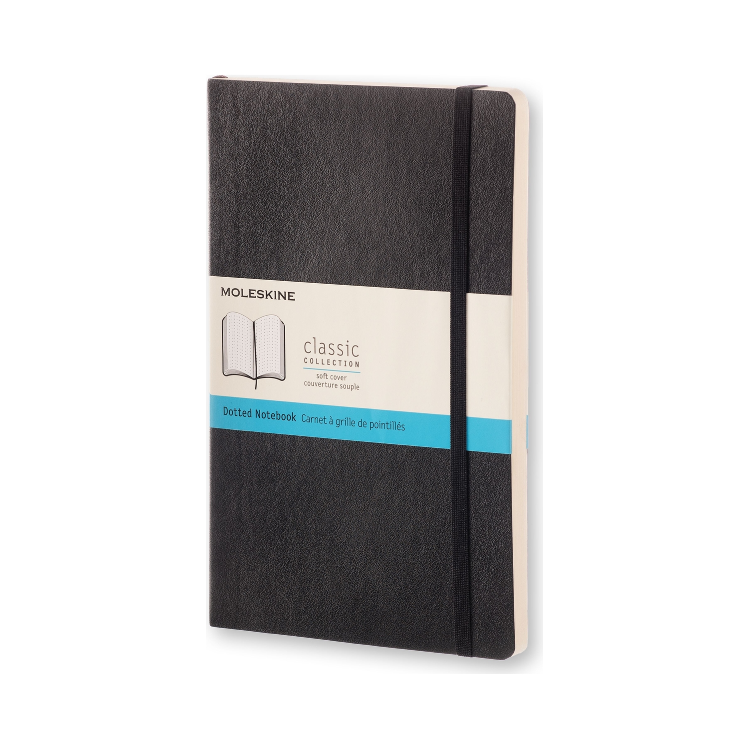 Classic Black Large Dotted Soft Notebook