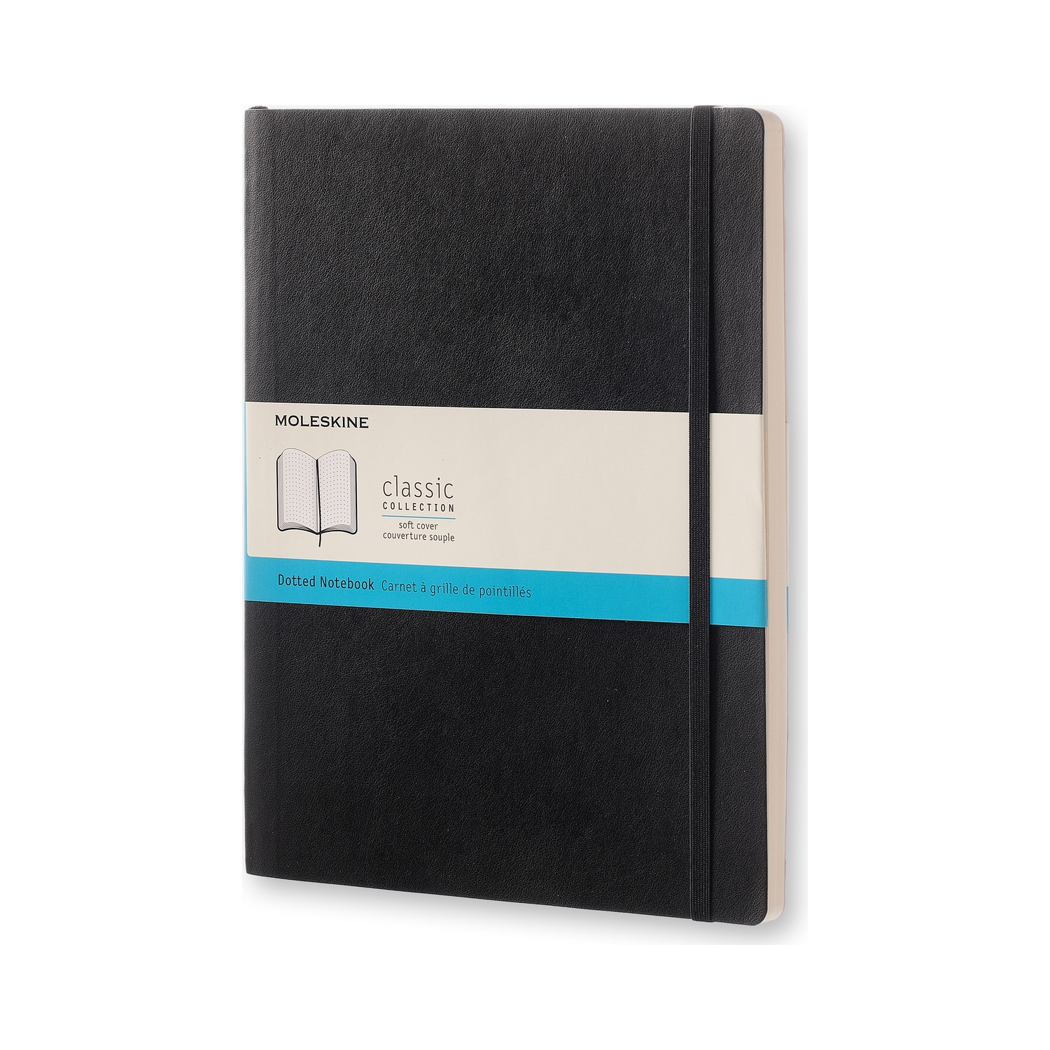 Classic Black Extra Large Dotted Soft Notebook