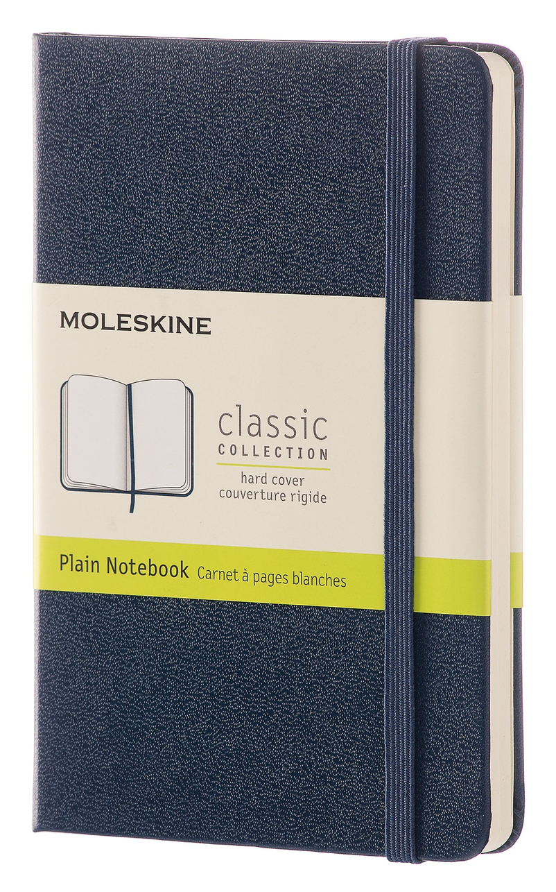 Sapphire Blue Pocket Plain Hard Notebook