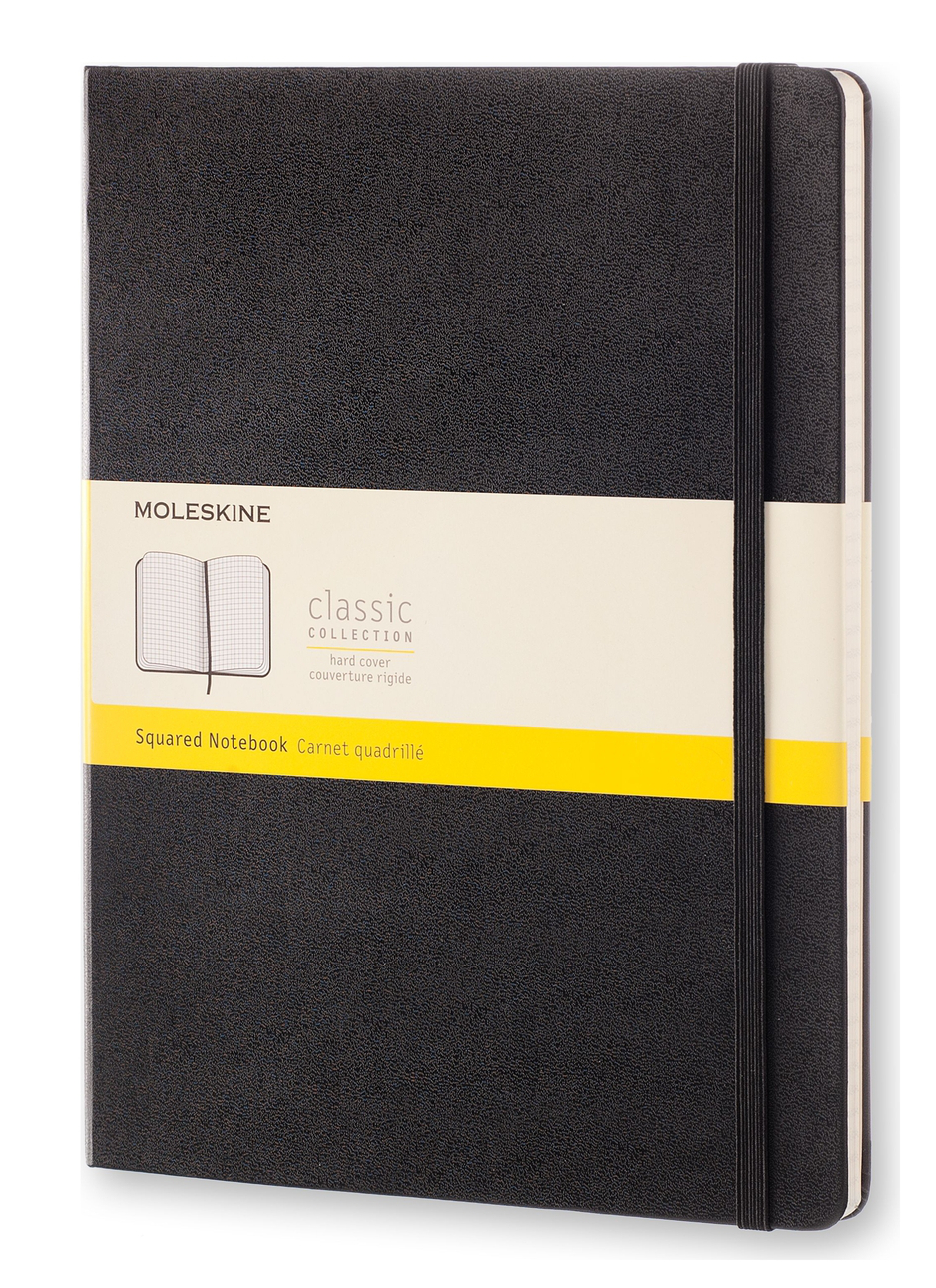 Classic Black Extra Large Squared Hard Notebook