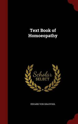 Text Book of Homoeopathy