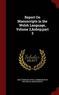Report on Manuscripts in the Welsh Language, Volume 2, Part 3