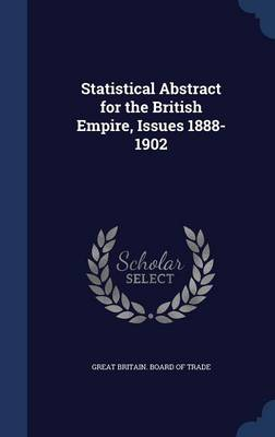 Statistical Abstract for the British Empire, Issues 1888-1902
