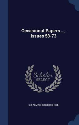 Occasional Papers ..., Issues 58-73