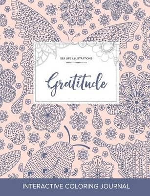Adult Coloring Journal: Gratitude (Sea Life Illustrations, Ladybug)