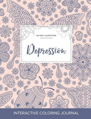 Adult Coloring Journal: Depression (Butterfly Illustrations, Ladybug)