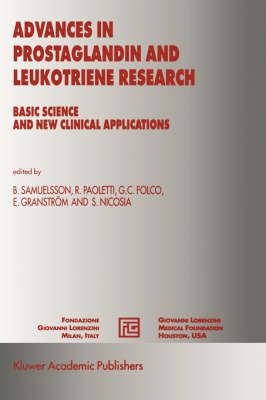 Advances in Prostaglandin and Leukotriene Research: Basic Science and New Clinical Applications