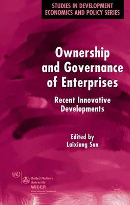 Ownership and Governance of Enterprises: Recent Innovative Developments