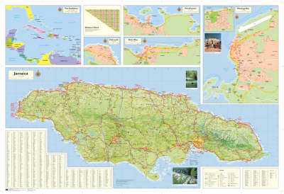 Shell Road Map of Jamaica