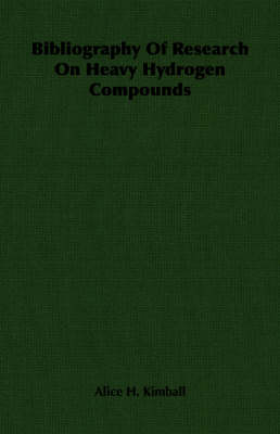 Bibliography Of Research On Heavy Hydrogen Compounds