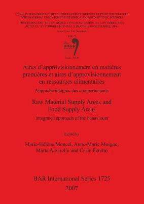 Aires d'approvisionnement en matieres premieres et aires d'approvisionnement en ressources alimentaires/Raw Material Supply Areas and Food Supply Ar: Approche integree des comportements/Integrated approach of the behaviours. Session WS23.