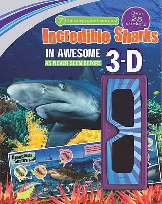 3d Sticker Scene: Incredible Sharks