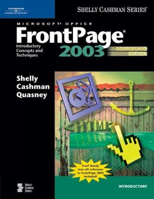 Microsoft Office FrontPage 2003: Introductory Concepts and Techniques, CourseCard Edition