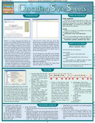 Cascading Style Sheets: Reference Guide