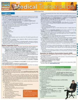 Medical Transcription: Reference Guide