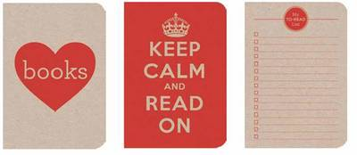 Notebooks Red: Love Books, Keep Calm and Read on, Me to Head List Pocket-Sized ECO-Friendly Notebooks
