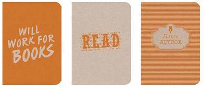 Notebooks Orange: Will Work for Books, Read, Future Author Pocket-Sized ECO-Friendly Notebooks