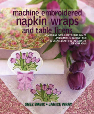 Machine Embroidered Napkin Wraps and Table Linens