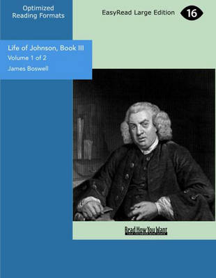 Life of Johnson, Book III (2 Volume Set)
