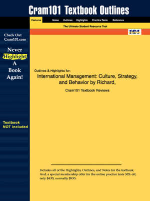 Studyguide for International Management: Culture, Strategy, and Behavior by Luthans, Hodgetts &, ISBN 9780072488548