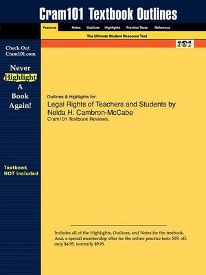Studyguide for Legal Rights of Teachers and Students by Cambron-McCabe, Nelda H., ISBN 9780205579365
