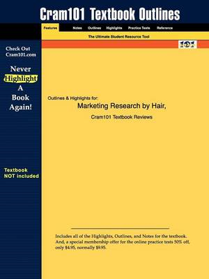 Studyguide for Marketing Research by Hair, ISBN 9780072830873