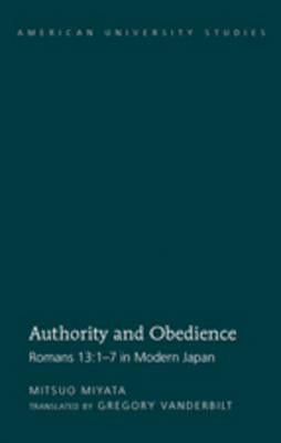 Authority and Obedience: Romans 13:1-7 in Modern Japan- Translated by Gregory Vanderbilt