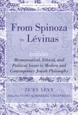 From Spinoza to Levinas: Hermeneutical, Ethical, and Political Issues in Modern and Contemporary Jewish Philosophy- Edited by Yudit Kornberg Greenberg
