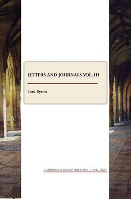 Letters and Journals: Volume 3