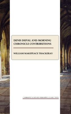 """Denis Duval and """"Morning Chronicle"""" Contributions"""