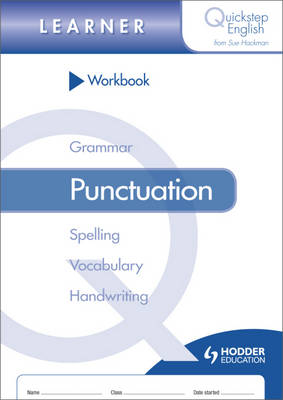 Quickstep English Workbook Punctuation Learner Stage