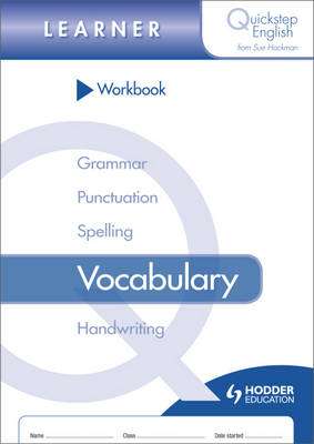 Quickstep English Workbook Vocabulary Learner Stage