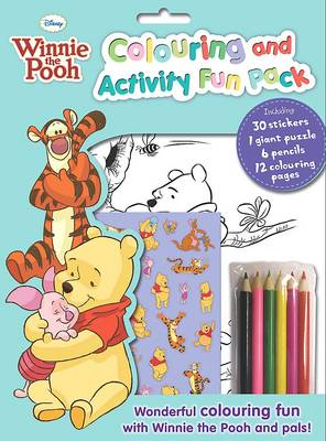 Disney Winnie the Pooh Colouring and Activity Fun Bag