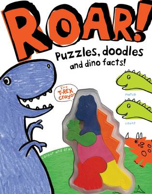 Roar! - Dinosaur Activity Book with Shaped Crayons
