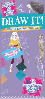 Draw it! - With How-to Book, HB Drawing Pencil and 12 Double-Ended Colouring Pencils