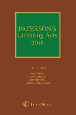 Paterson's Licensing Acts 2018