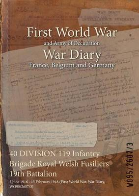 40 Division 119 Infantry Brigade Royal Welsh Fusiliers 19th Battalion: 2 June 1916 - 15 February 1918 (First World War, War Diary, Wo95/2607/3)