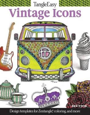 Tangleeasy Vintage Icons: Design Templates for Zentangle(r), Coloring, and More