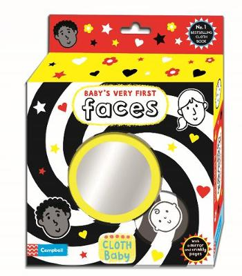 Baby's Very First Book: Faces: A Rag/Cloth Book About Faces with Mirror, Crinkly Pages and High-Contrast Images