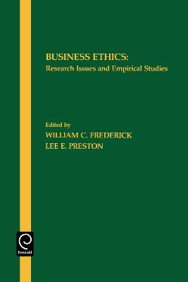 Business Ethics: Research Issues and Empirical Studies