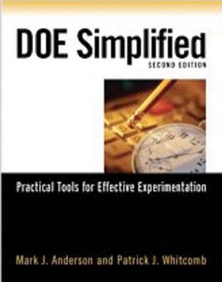 DOE Simplified: Practical Tools for Effective Experimentation