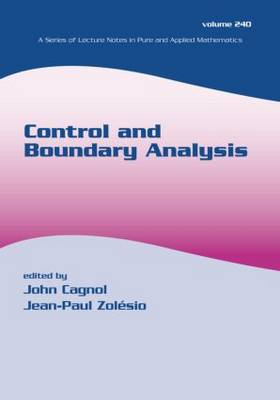 Control and Boundary Analysis
