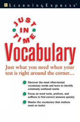 Just in Time Vocabulary