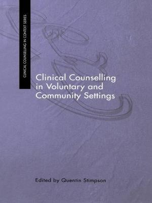Clinical Counselling in Voluntary and Community Settings