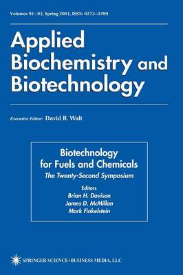Twenty-Second Symposium on Biotechnology for Fuels and Chemicals