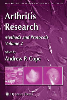 Arthritis Research: v. 2: Arthritis Research Methods and Protocols