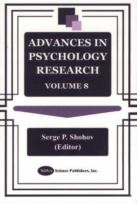 Advances in Psychology Research: Volume 8