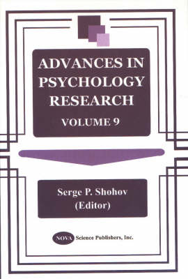 Advances in Psychology Research: Volume 9